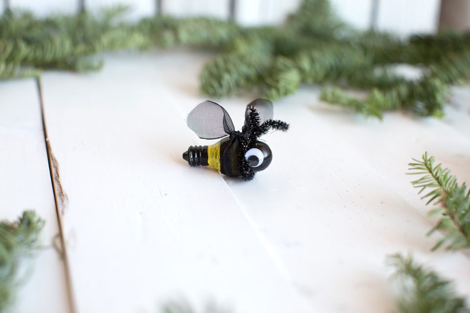 Luckey Bee Recycled Bee ornaments
